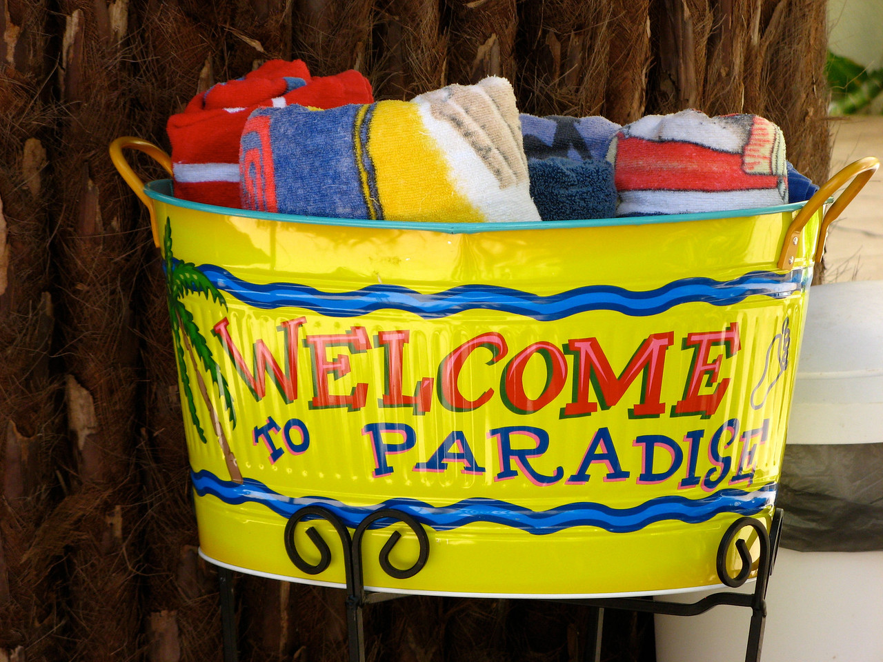 Beach towels are provided.