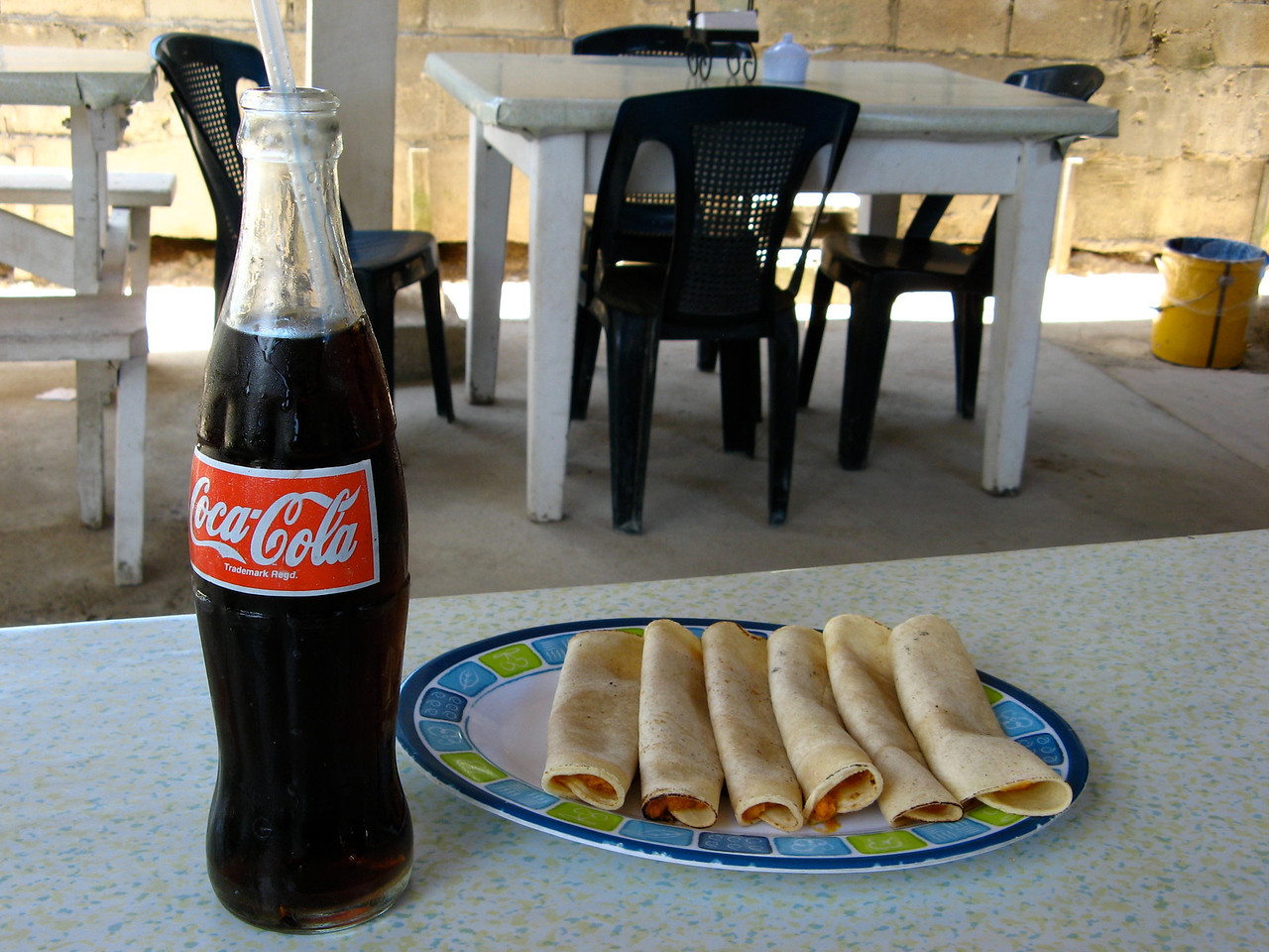 The Coke is almost more expensive than the 6 tacos.