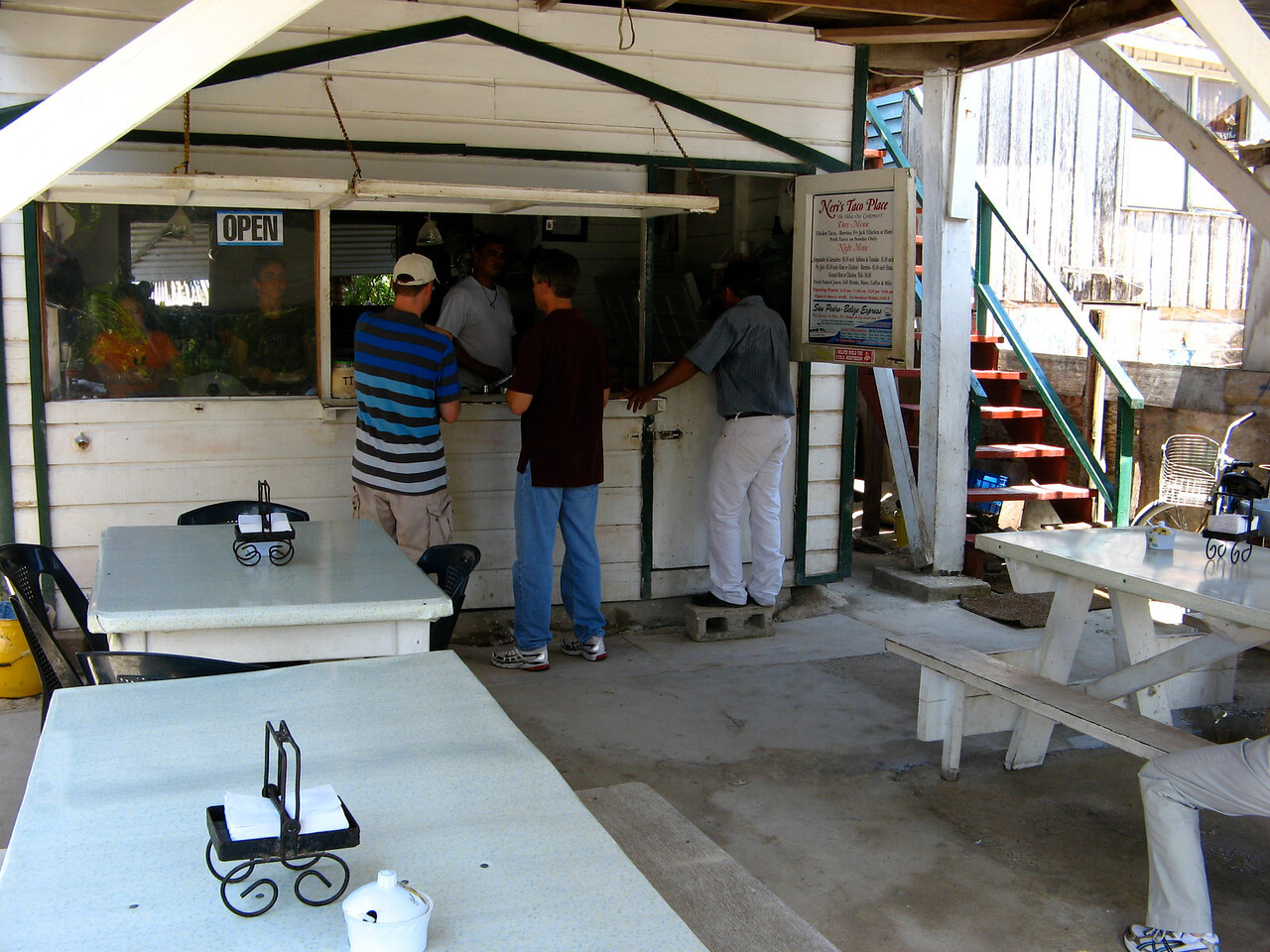 """Neri's Tacos, a great """"local"""" place to eat.  Three tacos for 50 cents US."""