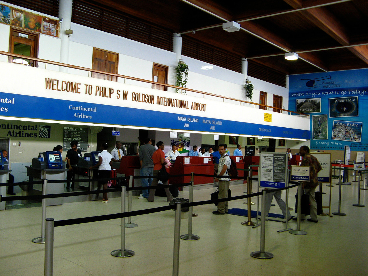 This is the terminal at the Belize City airport.