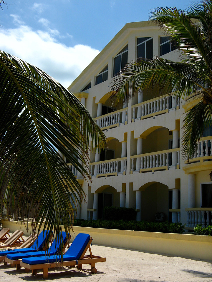 One of four of buildings at the Pelican Reef Villas.  Each building has 3 floors and 6 units total.