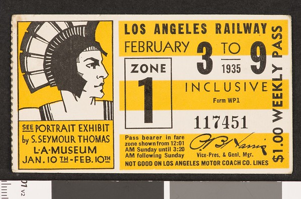 Los Angeles Railway weekly pass, 1935-02-03