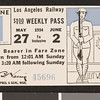 Los Angeles Railway weekly pass, 1934-05-27
