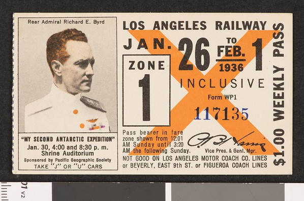Los Angeles Railway weekly pass, 1936-01-26