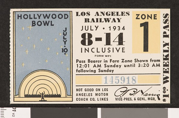 Los Angeles Railway weekly pass, 1934-07-08
