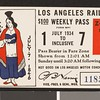 Los Angeles Railway weekly pass, 1934-07-01