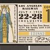 Los Angeles Railway weekly pass, 1934-07-22