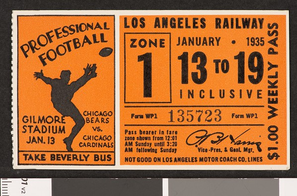 Los Angeles Railway weekly pass, 1935-01-13