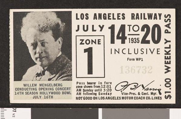 Los Angeles Railway weekly pass, 1935-07-14