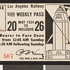 Los Angeles Railway weekly pass, 1934-05-20