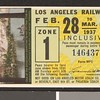 Los Angeles Railway weekly pass, 1937-02-28