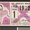 Los Angeles Railway weekly pass, 1936-01-19