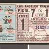 Los Angeles Railway weekly pass, 1937-02-07