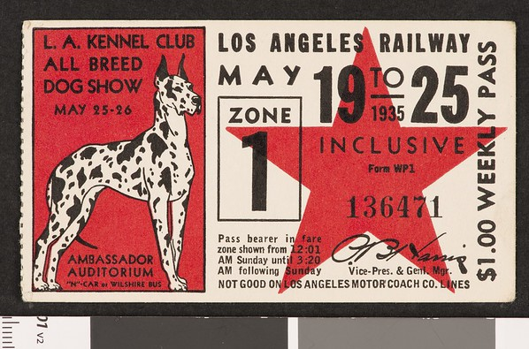 Los Angeles Railway weekly pass, 1935-05-19