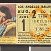 Los Angeles Railway weekly pass, 1936-08-02