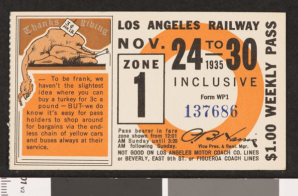 Los Angeles Railway weekly pass, 1935-11-24