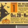 Los Angeles Railway weekly pass, 1934-10-28