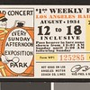 Los Angeles Railway weekly pass, 1934-08-12