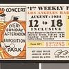 Los Angeles Railway weekly pass, 1934-08-12