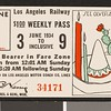 Los Angeles Railway weekly pass, 1934-06-03