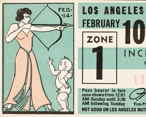 Los Angeles Railway weekly pass, 1935-02-10