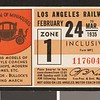 Los Angeles Railway weekly pass, 1935-02-24