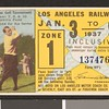 Los Angeles Railway weekly pass, 1937-01-03