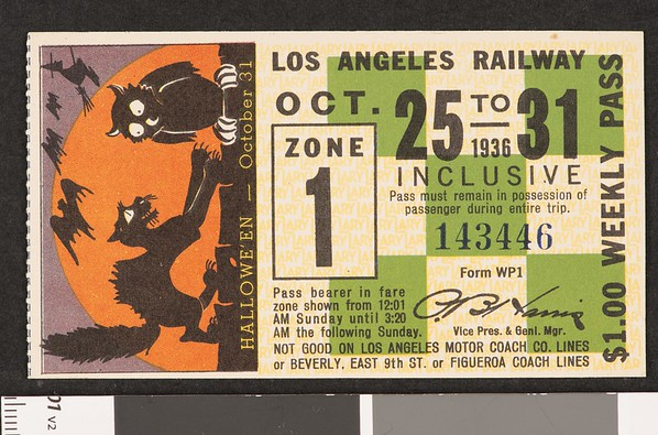 Los Angeles Railway weekly pass, 1936-10-25