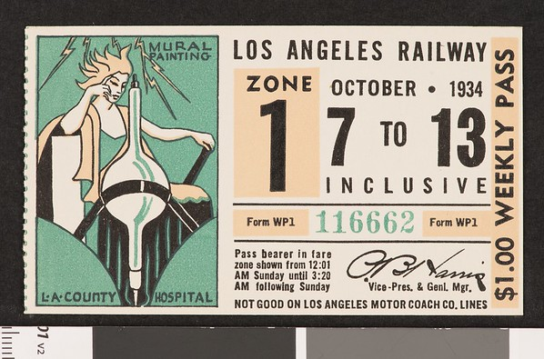 Los Angeles Railway weekly pass, 1934-10-07
