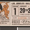 Los Angeles Railway weekly pass, 1935-01-20