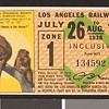Los Angeles Railway weekly pass, 1936-07-26