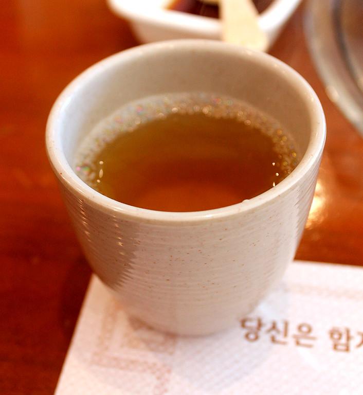 Boli-cha, a delicious barley tea that smells as wonderful as it tastes.