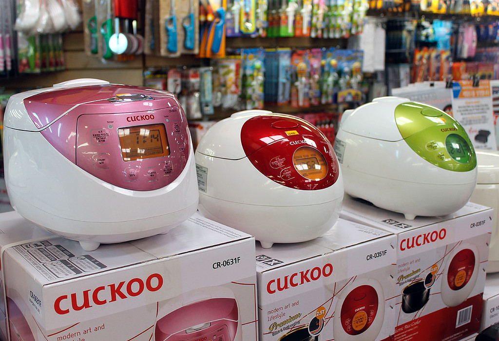 The new generation of rice steamer... how cool do these look!