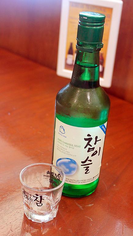 Soju - ice cold rice wine