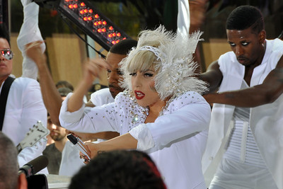 LADY GAGA Performing LIVE at NBC's TODAY Show Summer Concert Series