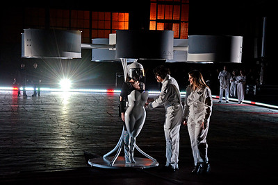 LADY GAGA and TechHaus Debut VOLANTIS the World's First Flying Dress
