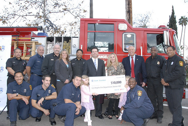 Fire Station #63 receives $10,000 donation