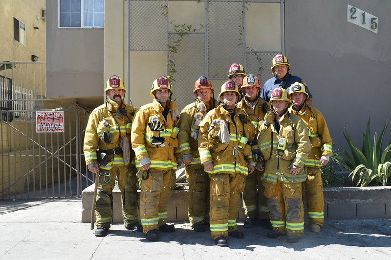 FIREFIGHTER VERA'S 10 YEAR ANNIVERSARY GROUP SHOTS 9-28-16