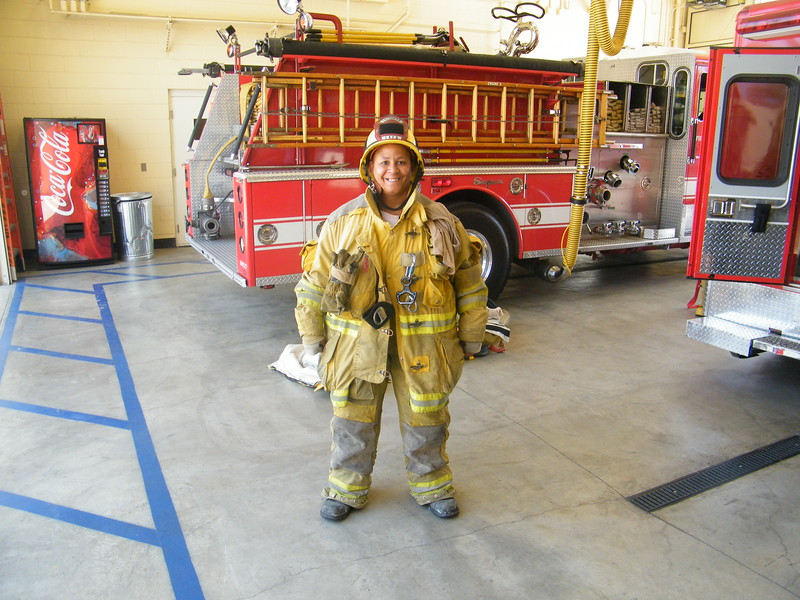 Me at station 13 - Fire Service Day
