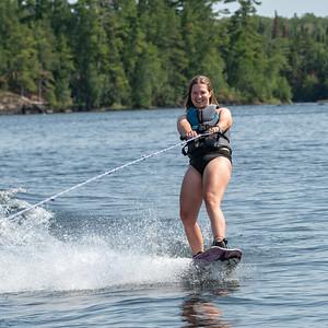 Natasha and Rob pair wakeboarding