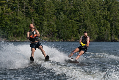Adrian and Rob pair wakeboarding and waterskiing