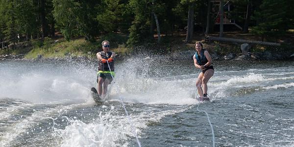 Natasha and Keith Pair Wakeboarding and Waterskiing