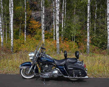 Motorcycling home from the Lake
