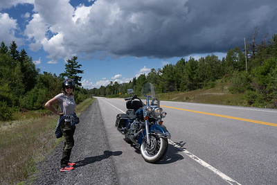 Motorcycle Ride with Linda to Nestor Falls