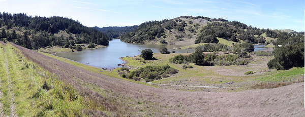 ALPINE LAKE FROM BON TEMPE DAM PANO