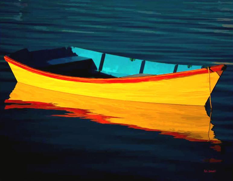 Rowboat reflection