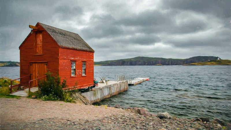Newfoundland fishing shack