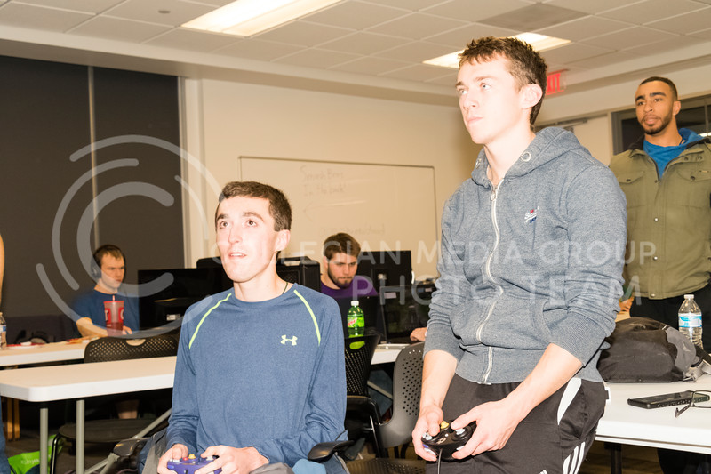 Students play Super Smash Bro's 4 at a Local Area Network (LAN) party on Dec 1, 2017. The Association for Computing Machinery (ACM) and Sponsor Suftek put on a LAN Party at the College of Engineering on Dec 1, 2017. (Alex Shaw | Collegian Media Group)
