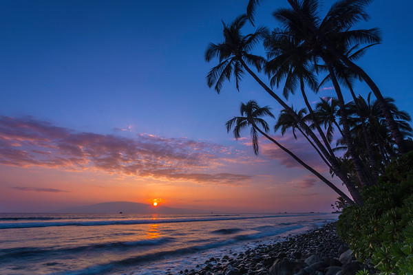 Puamana Beach Sunset