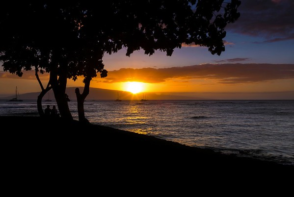 Lahaina Harbor Sunset I